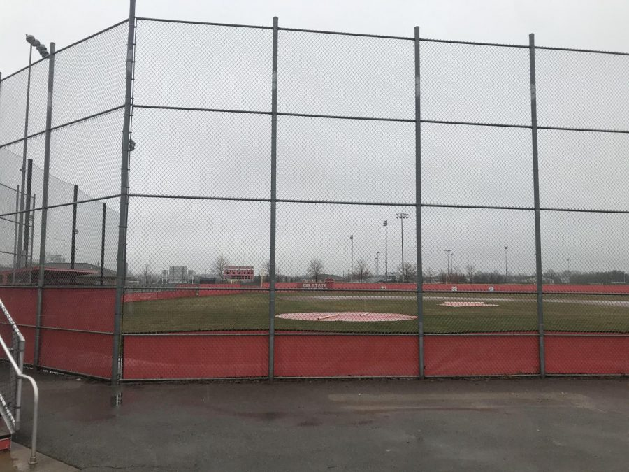 Playing fields across the FHS campus remain closed to the public and student athletes due to fears of COVID-19. Because of this, teams are unable to practice together during the time off.