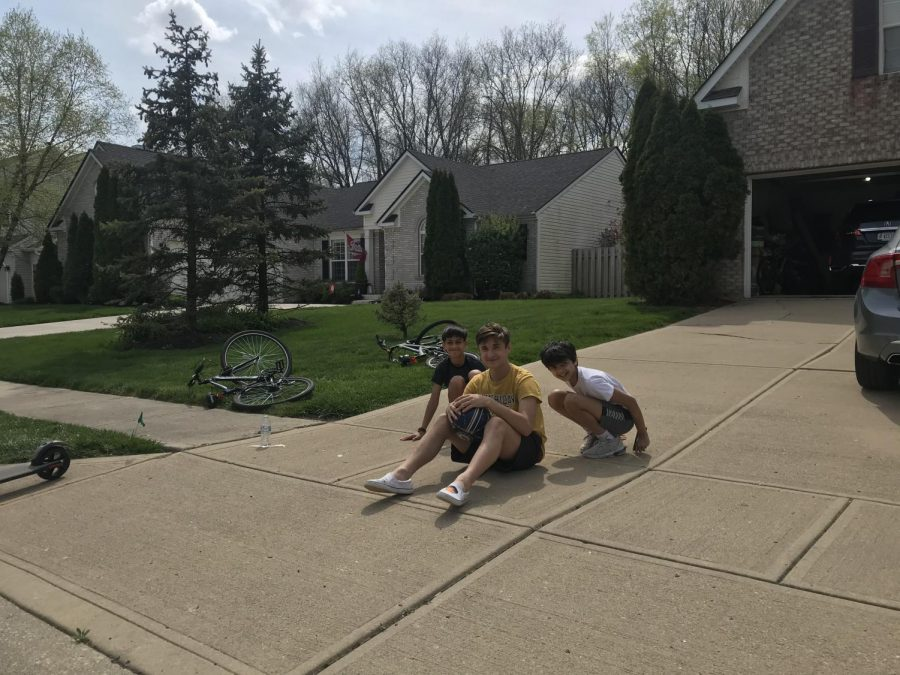 Sophomore Alex Vitat spends the day outside to avoid getting bored.