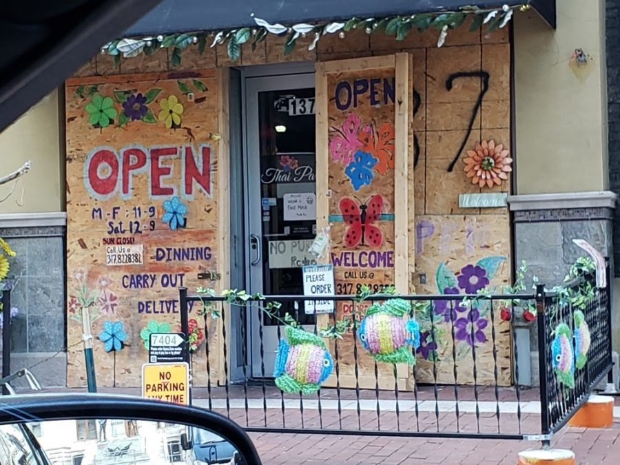 Thai Place, a restaurant in downtown Indianapolis, boarded up their windows out of fear for protests after the election.