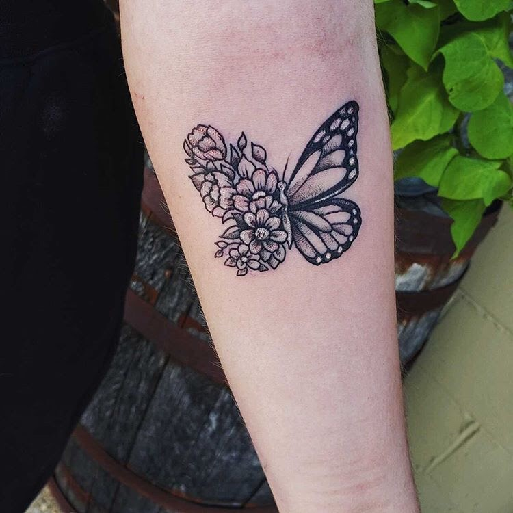 Pictured above, senior Isabel Luckie's butterfly tattoo was done by Infamous Tattoos located in Indianapolis. The tattoo was done in June.