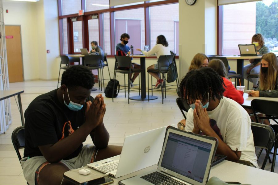Students studying in the cca on September 8 during targeted instruction.