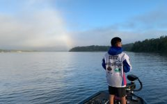 Freshman Ryan Seitz fishing on Carroll County One Thousand Acre Recreational Lake during last weeks tournament on Oct. 9 and Oct. 10. Seitz would finish 6th of 62 boats.