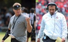 Former Las Vegas Raiders coach Jon Gruden (left) and Jacksonville Jaguars coach Urban Meyer (right) displayed traits opposite of what a true leader would. As NFL head coaches, both men have failed more than just their players.