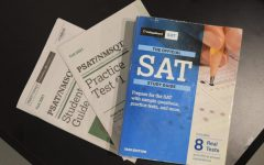 PSAT/NMSQT Study Guide, Practice Test 1, SAT Study Guide (which includes 8 real tests) 2020 version. The Study Guide is also available at the Hamilton East Public Library to check out.
